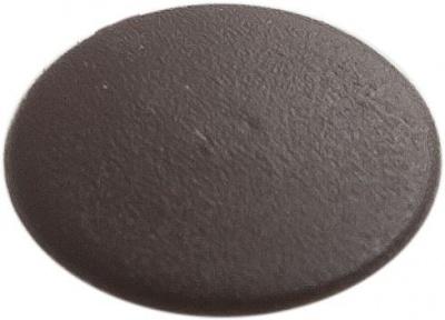 Заглушка декоративная под мебельный винт-стяжку, темно-коричневая (упак/1.000шт)